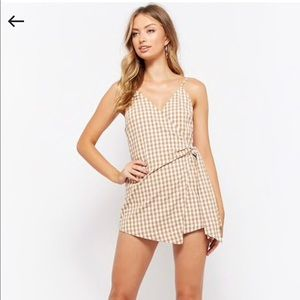 Gingham Wrap Romper